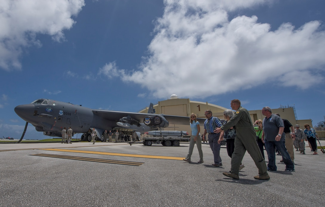 Air Force civic leaders visit Andersen Airmen, receive introduction to mission