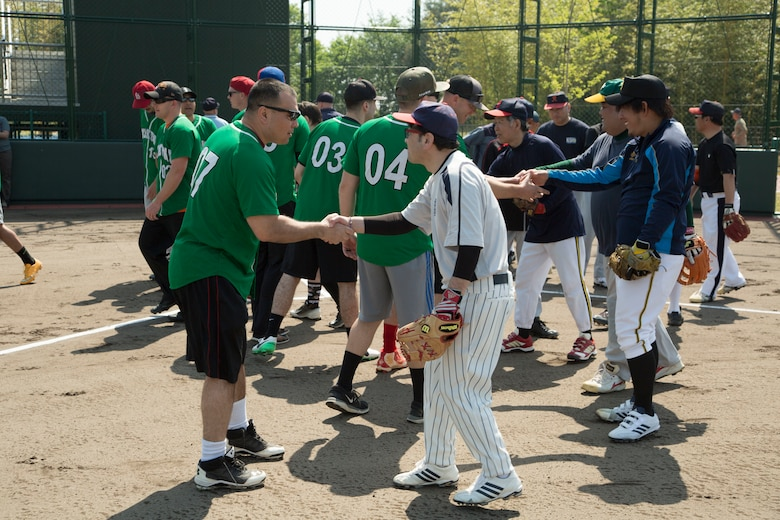 Americans, Japanese compete in softball tournament