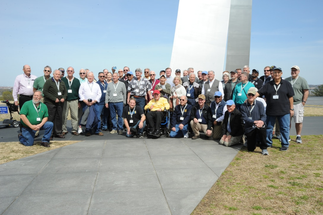 The Berlin for Lunch Bunch members gather for a photo at the Air Force Memorial April 21.