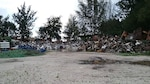 Just over 6 million pounds of scrap waits for removal from the U.S. Army Garrison at Kwajalein Atoll.