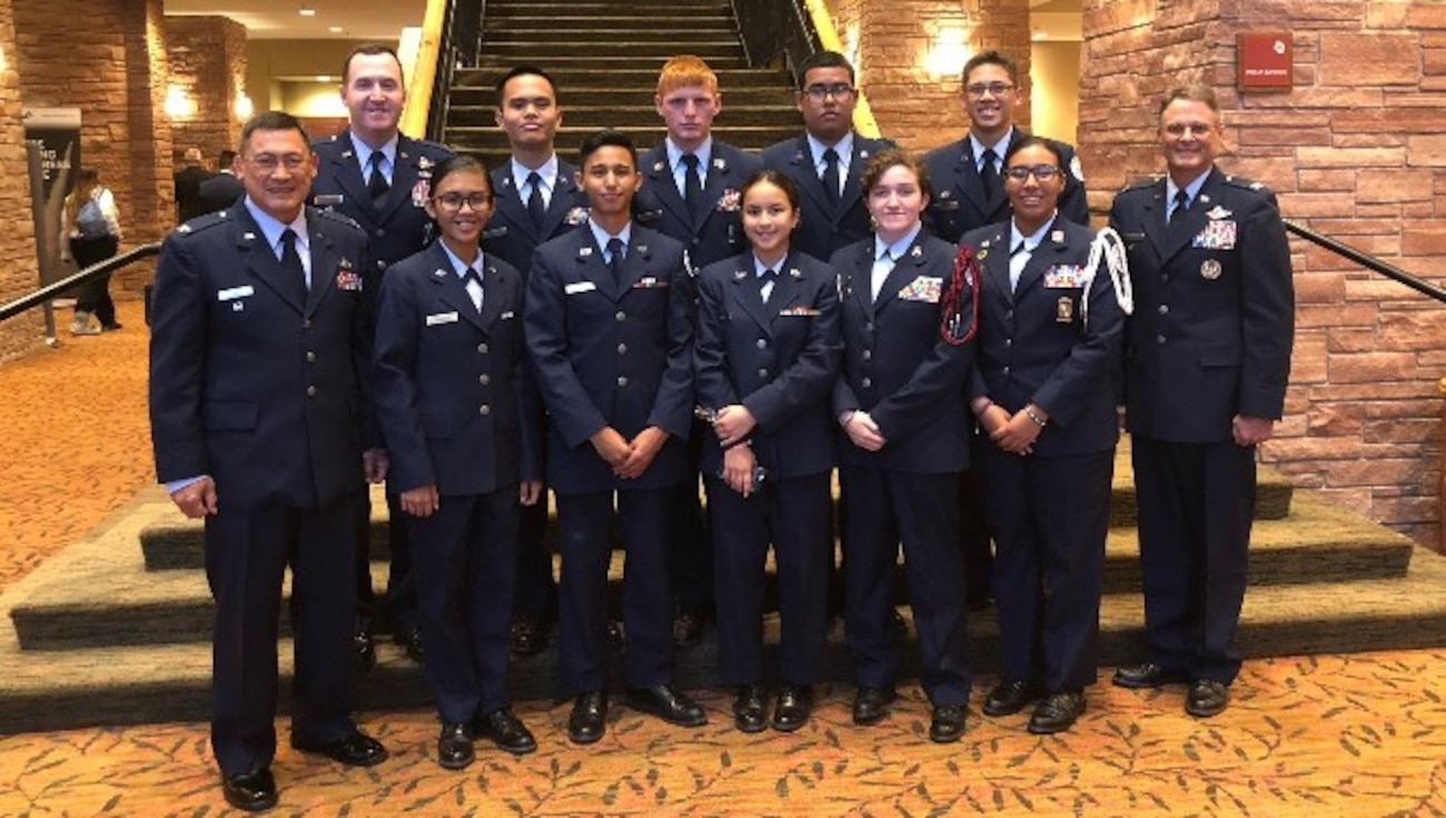 GU-051, CA-946 Cadets & Instructors with Col Lips at StellarXplorers Awards Ceremony