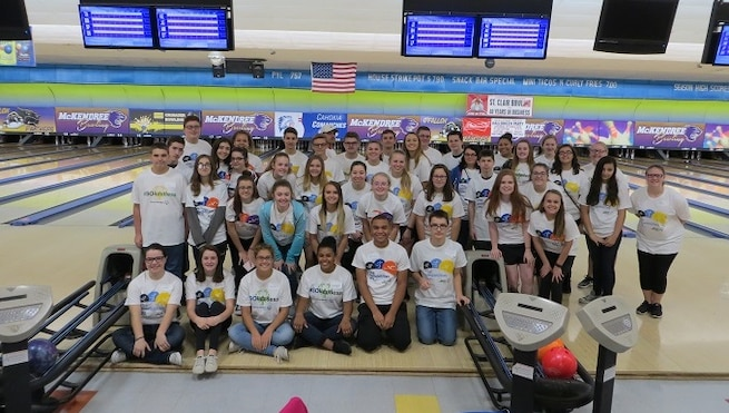 Volunteering at the Southern Illinois Special Olympics Bowling tournament