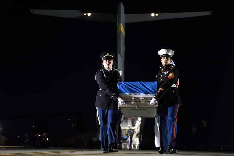 Army Gen. Vincent K. Brooks, commander of United Nations Command, delivered remarks as U.S. and South Korean defense officials repatriated 55 boxes of Korean War remains during a ceremony at Osan Air Base, South Korea.