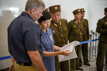 INSIDE ACCESS: Several members of the Defense POW / MIA Accounting Agency accompanied the United Nations Command crew to Wonsan, North Korea, Friday to retrieve 55 cases of remains. The team of anthropologists conducted a preliminary forensic inspection at Wonsan, and have begun the field forensic review at Osan Air Base.