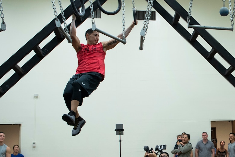 U.S. servicemembers competed in the Alpha Warrior Fitness Challenge July 28, 2018, at Kadena Air Base, Japan.