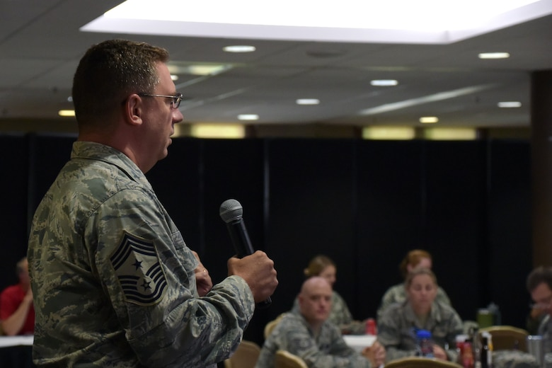 The Ohio Air National Guard hosted its inaugural Enlisted Leadership Symposium, July 23-27, at the Youngstown-Warren Air Reserve Station, Vienna, Ohio. The symposium, focused on personal and professional development and relationship building, brought together 105 enlisted Airmen from across the state to enhance leadership skills and build bonds with one another.
