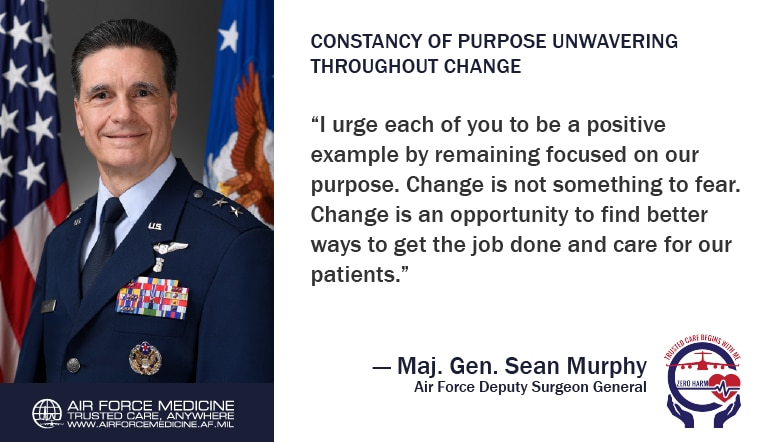 If you have followed military medical news recently, you know Congress directed changes in military medicine in an effort to reduce redundancies and improve efficiencies. Our unwavering commitment to Trusted Care makes the Air Force Medical Service ready to take on this challenge.