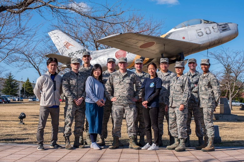 Members of the 35th Comptroller Squadron pose for a photo at Misawa Air Base, Japan, March 30, 2018. The squadron received the Pacific Air Force level Maj. Alfred K. Flowers Comptroller Organization of the Year award and the Financial Operations Flight won the Air Force level Financial Services Office of the Year award which recognizes financial managers who set themselves apart by demonstrating exemplary performance and service excellence for the Air Force. (U.S. Air Force photo by Airman 1st Class Collette Brooks)