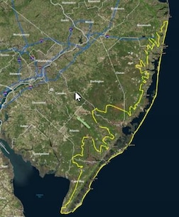 The New Jersey Back Bays study area includes approximately 950 square miles and nearly 3,400 miles of shoreline. The objective of the study is to investigate problems and solutions to reduce damages from coastal flooding that affects population, critical infrastructure, critical facilities, property, and ecosystems.