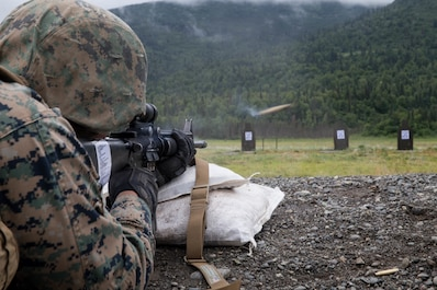 """Fourth Marine Division is taking on Alaska's arctic terrain for the third year in a row as they return for the Marine Corps' Annual Rifle Squad or """"Super Squad"""" Competition. The previously acclaimed division competitions, dating back to 1957, were put on hold for over 12 years after 9/11 while Marine manpower requirements were focused on supporting conflicts in two separate theaters."""