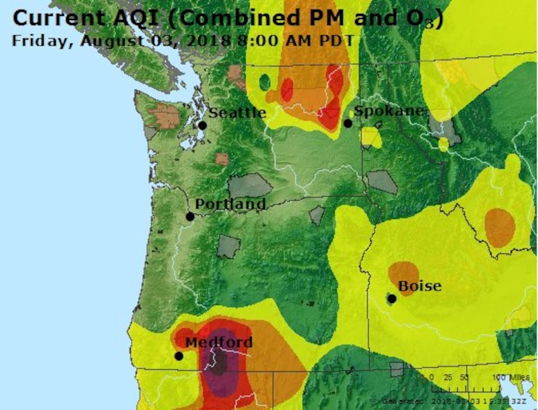 Spokane Complex Fire Map.Kingsley Field Fire Department Fights Local And Regional Fires