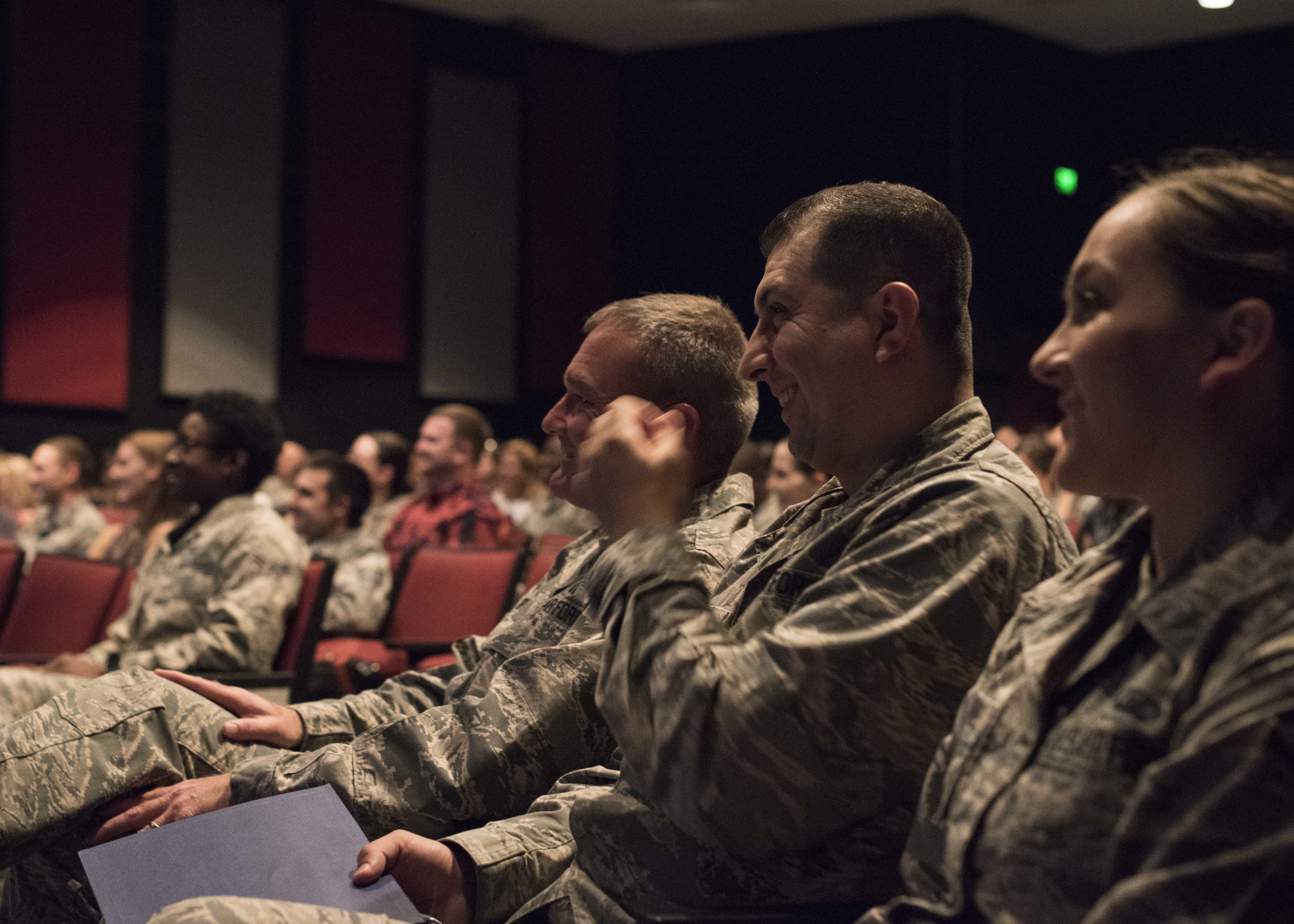 Airmen React To A Presentation By Dr Gary Chapman On The 5 Love Languages