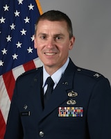 Official portrait of Col. Darring K. Anderson, the 119th Wing commander.