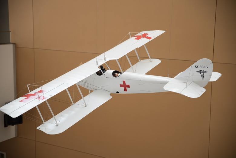 "A model of a Curtiss JN-4 ""Jenny."""