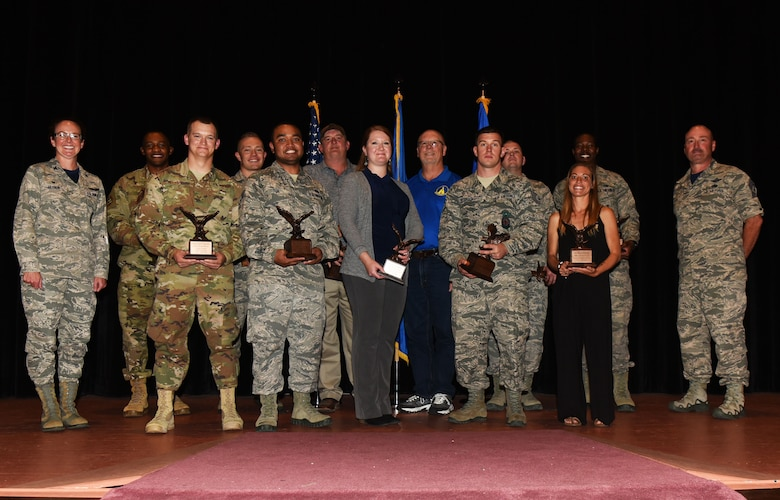 Airmen, families and friends of the 90th Missile Wing gathered, Aug. 3, at the base theater to celebrate the 2018 second quarter award winners.
