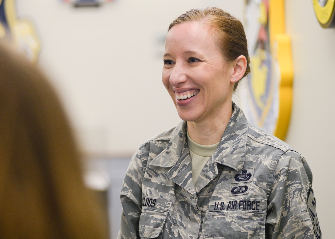 Master Sergeant Dawn C. Kloos was selected as the Air National Guard's 2018 Outstanding First Sergeant of the Year.