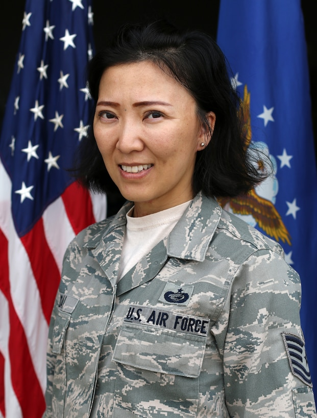 Tech. Sgt. Maggie Malidai, 445th Civil Engineer Squadron operations management, is the 445th Airlift Wing August 2018 Spotlight Performer.