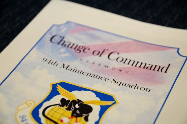Maj. Katrina Jones assumes command of the 94th Maintenance Squadron during a change of command ceremony on August 5, 2018 at Dobbins Air Reserve Base. (U.S. Air Force photo by Senior Airman Lauren Douglas)