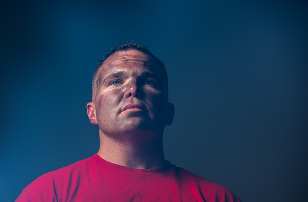 Tech Sgt. Michael Cleary, 56th Equipment Maintenance Squadron, aircraft structural maintainer poses for a portrait Aug. 6, 2018 in Glendale, Ariz. On July 14, 2018, Cleary aided in saving the lives of three families from a fire while on leave in his hometown of Manteca, California. (U.S. Air Force photo by Airman 1st Class Alexander Cook)