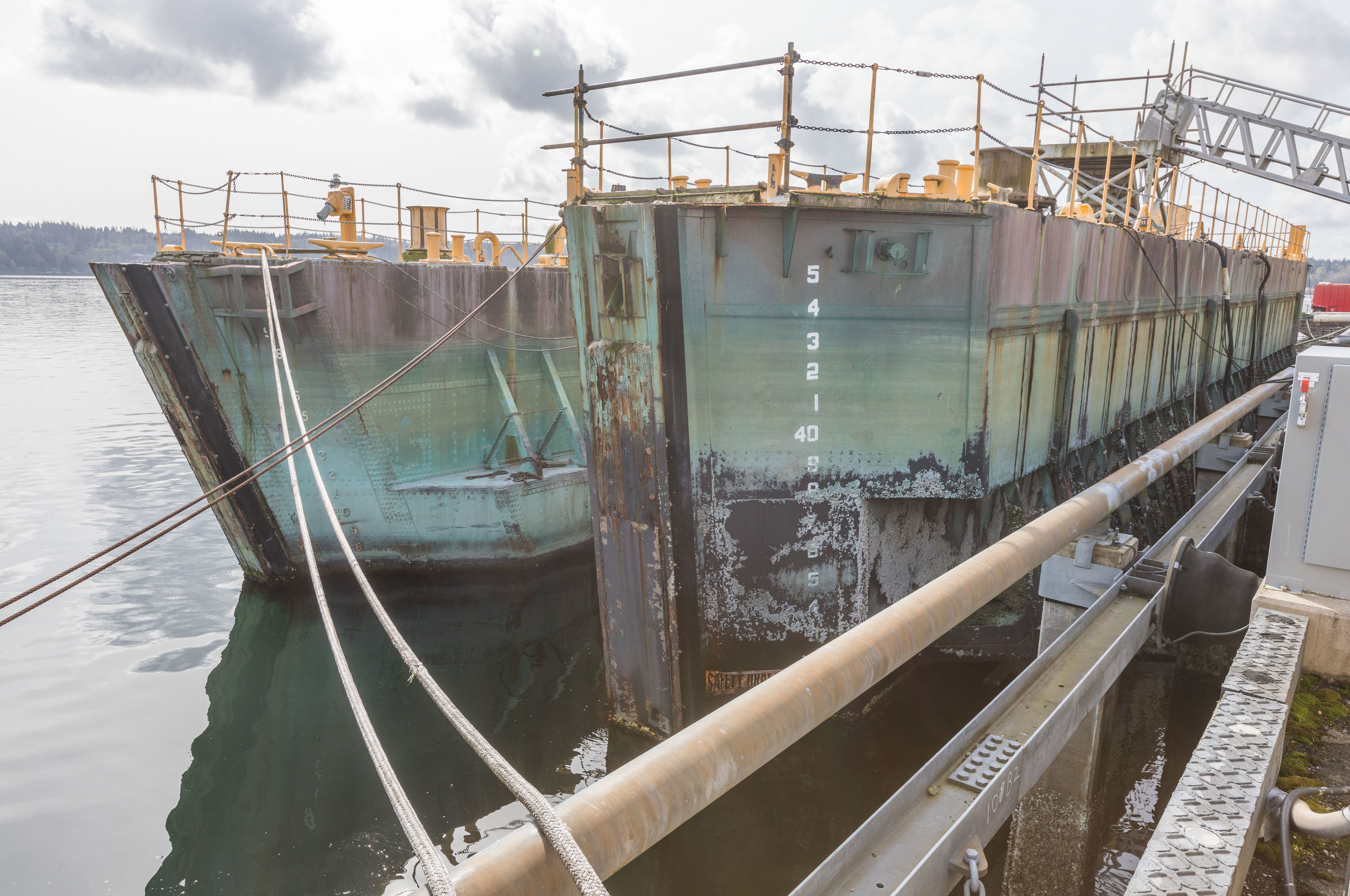 Historic Shipyard Caissons On Sale In Disposal Effort