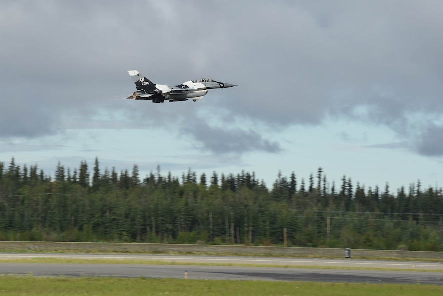 The flight provided an opportunity to showcase the 354th Fighter Wing's mission and the value of the Joint Pacific Alaska Range Complex.