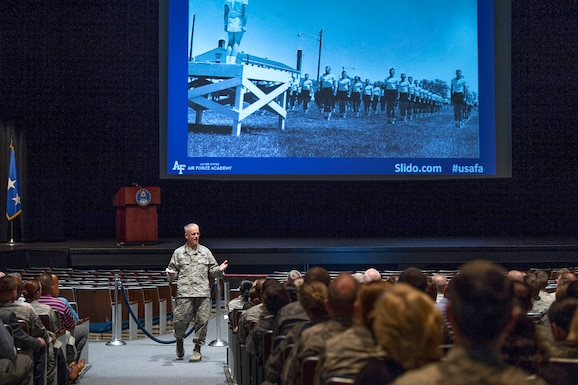 The Air Force Academy's top officer said decisions made by senior Pentagon officials and increased defense spending are changing how the Academy prepares cadets to contend with modern warfare.