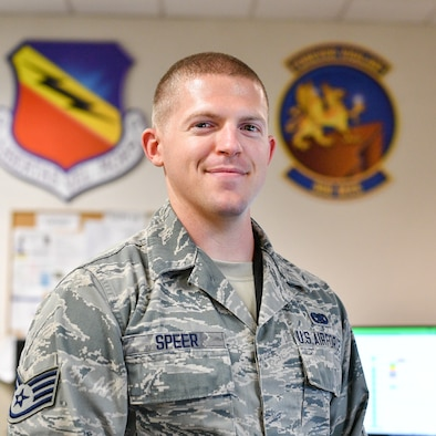 """Staff Sgt. Benjamin Speer was recently recognized as a """"Superior Performer"""" by the Hill AFB Top 3.  Speer is a senior weapons system coordinator assigned to the 388th Maintenance Group and is from Statesville, N.C."""