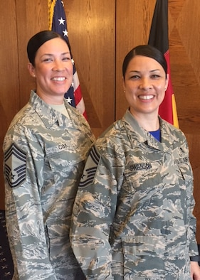 "Two sisters, Chin Cox and Chi Swanson, have made military life their ""family business"". The two have committed to careers in the U.S. Air Force, which has seen them rise through the ranks to both becoming chief master sergeants."
