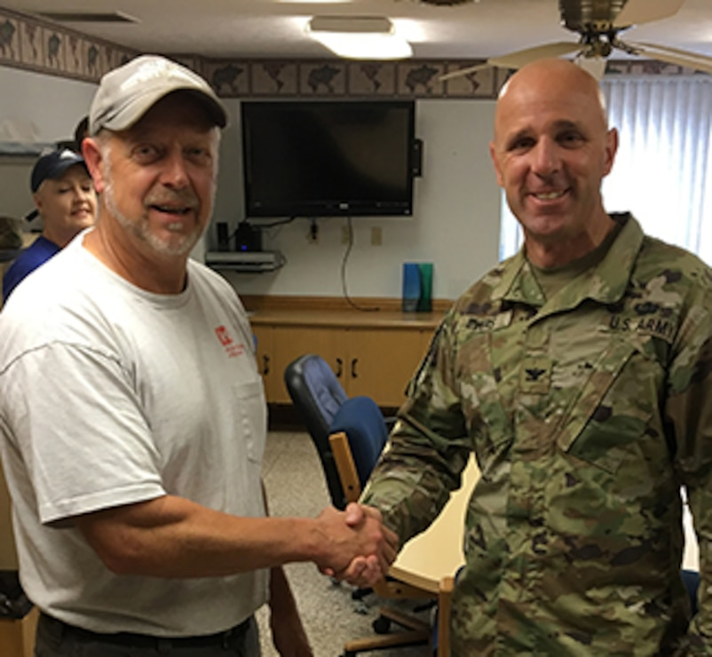 Jeff Bare Receives Commanders Coin