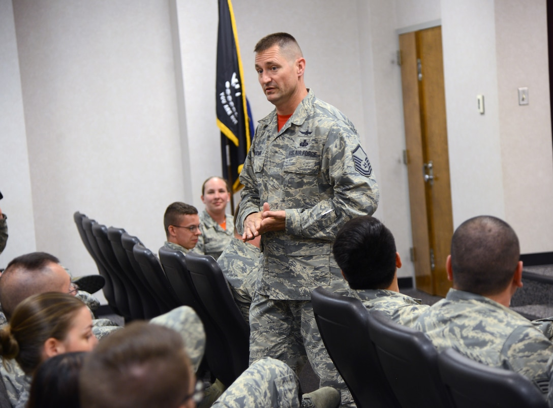 Senior Master Sgt. Bobby Kazmir, commandant of the Tinker Air Force Base Leadership School, is due to permanently change stations after being at Tinker for 10 years.