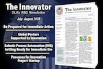The latest R&D news from DLA is a click away, in The Innovator newsletter. (Graphic by Paul Crank)