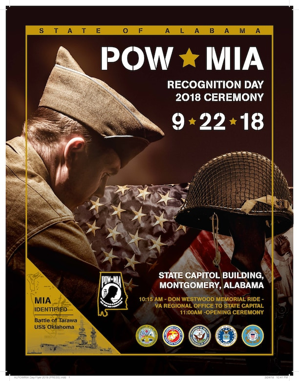 The State of Alabama POW/MIA recognition day will be September 22, 2018 this year. The event will take place at the State Capitol Building in Montgomery, Alabama. (Courtesy Photo)