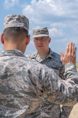 Chaplain Michael G. Fuentes, with the 514th Air Mobility Wing, was promoted on Sunday, August 5, 2018. The ceremony was held on the beach at the Army National Guard's Training Center at Sea Girt, NJ.