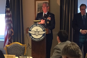 Air Force Gen. Paul J. Selva, the vice chairman of the Joint Chiefs of Staff, makes the case for nuclear deterrence recapitalization at the Air Force Association's Mitchell Institute in Washington, D.C.