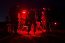 Marines with India Company, 3rd Battalion, 25th Marine Regiment, standby for transportation to another range during Exercise Northern Strike at Camp Grayling, Mich., Aug. 8, 2018. Exercise Northern Strike is a National Guard Bureau-sponsored training exercise that unites service members from multiple branches, states and coalition countries to conduct combined ground and air combat operations.