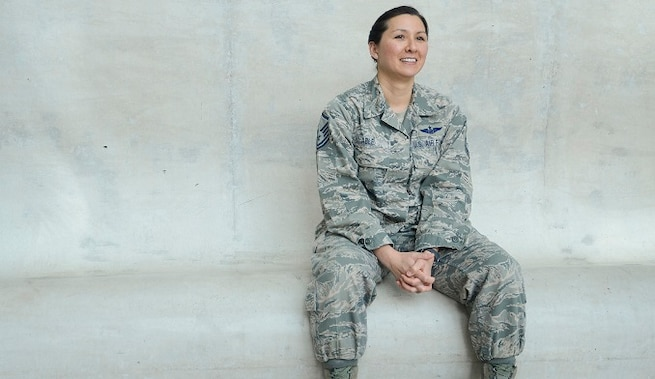 Master Sergeant Ashley U.P. Able was selected as the Air National Guard's 2018 Outstanding Senior Non-commissioned Officer of the Year. Able, an aeromedical evacuation technician with the 156th Aeromedical Evacuation Squadron, 145th Airlift Wing, North Carolina Air National Guard, stood out among her nationwide counterparts to be selected for the award. (U.S. Air National Guard photo by Staff Sgt. Rana Franklin).