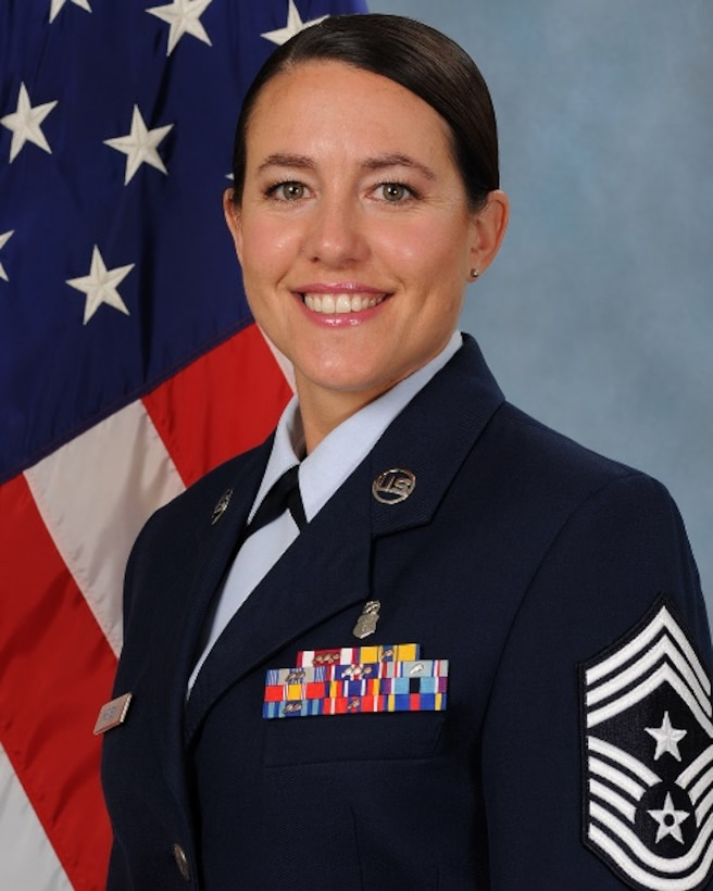 Chief Master Sergeant Eryn C. McElroy, 341st Missile Wing command chief.