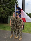 2nd Lt. Zachary Bowman stands proud with his officer selection officer, Maj. Trey B. Kennedy, on graduation day at Officer Candidate School, Quantico, Virginia, Aug. 11, 2018. Bowman lost over 40 pounds on his journey to become a Marine Corps officer. Bowman will peruse the military occupation specialty of a judge advocate after The Basic School. (Curtesy photo provided by 2nd Lt. Zachary Bowman)