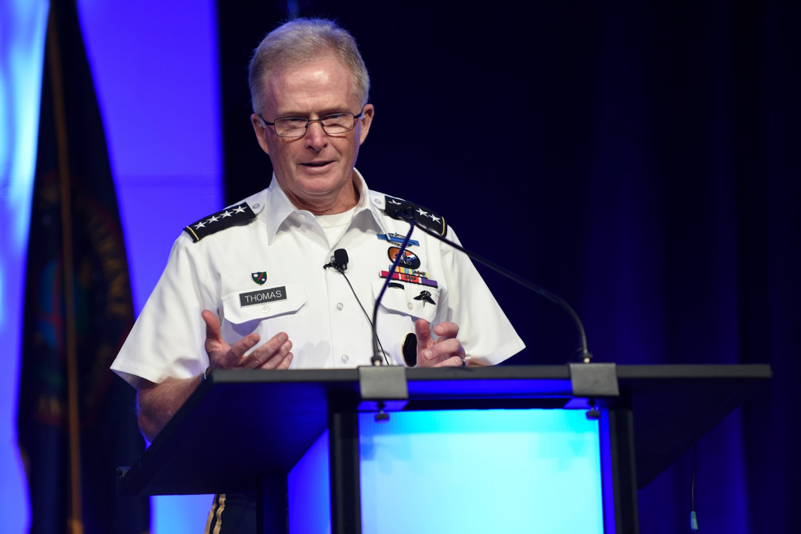 Gen. Raymond A. Thomas III, commander, U.S. Special Operations Command, discusses the value of open source intelligence during the 2018 DoDIIS Worldwide Conference.