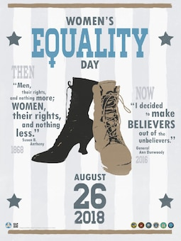 This month we observe Women's Equality Day which commemorates the 1920 passage of the 19th Amendment to the Constitution, giving women the right to vote. The observance has grown to include focusing attention on women's continued efforts toward gaining full equality.