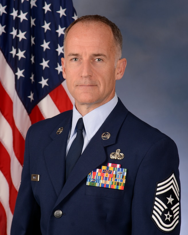 As the command chief, Chief Master Sergeant James C. McKay's mission is to advocate on behalf of the enlisted force to ensure issues with their readiness, professional development, training, and quality of life are addressed. McKay joined the Army National Guard in 1985. After serving seven years as an avionics mechanic, he transferred to the Air National Guard in 1993. Prior to his current position, McKay was a telephone systems specialist, ground radio technician, the chief of maintenance, operations branch superintendent, communications chief, and mission support group superintendent.