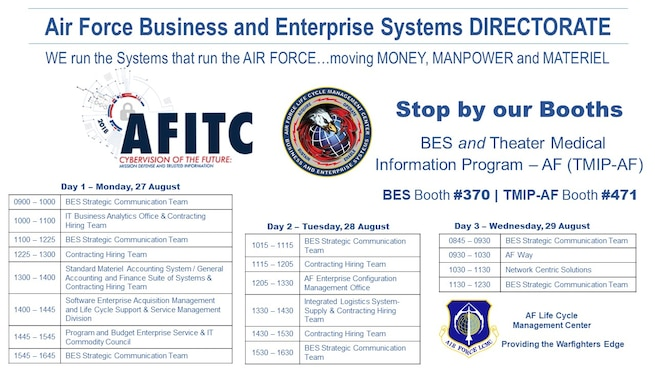AFITC BES Booth Schedule