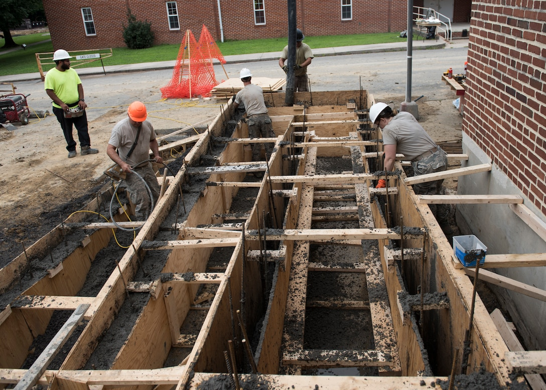 124th Civil Engineer Squadron helps the West Virginia Schools for the Deaf and Blind in Romney, W. Va