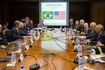 Defense Secretary James. N. Mattis meets with Brazilian defense leaders during his trip to Brazil.