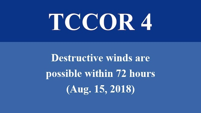 Destructive winds are possible within 72 hours.