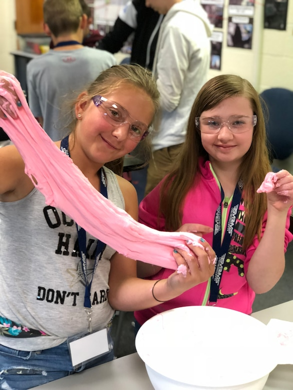 Martinsburg STARBASE, based at the 167th Airlfit Wing in Martinsburg, W.Va., held fice-day Science, Technology, Enginneering and Math, or STEM-based summer camps for children of local military families and friends. Seventy children, aged five to 14, participated in STEM activites like robotics, computer-aided design, rocketry, and DNA extraction. (photo courtesy of Martinsburg STARBASE)