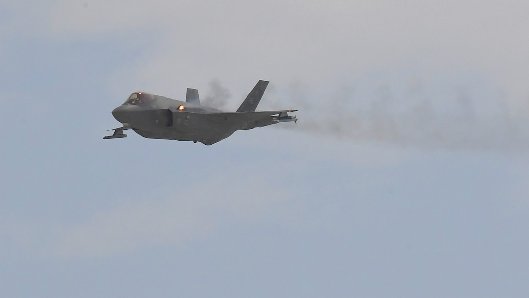 Pilots from the 388th Fighter Wing's 4th Fighter Squadron were the first operational unit to fire the F-35A's 25 mm cannon in a strafing run during training. The two-ship formation fired on two sets of ground targets on the Utah Test and Training range Aug. 13, 2018. Loading and firing the cannon was one of the few capabilities Airmen in the 388th and 419th FWs had yet to demonstrate. The F-35A's internal cannon allows the aircraft to maintain stealth against air adversaries as well as fire more accurately on ground targets, giving pilots more tactical flexibility. (U.S. Air Force photo by Todd Cromar)