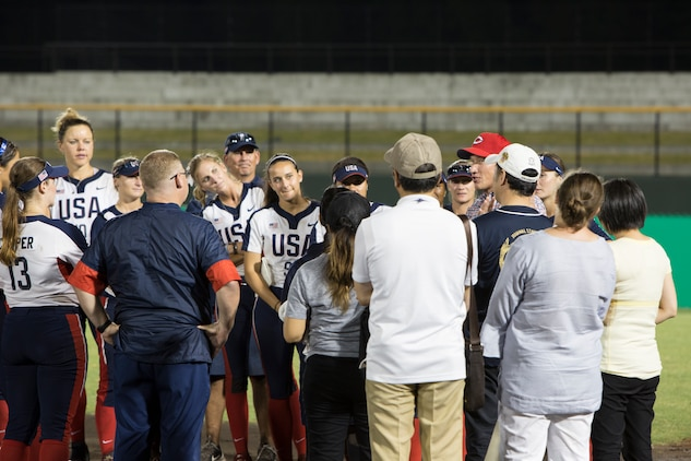 USA Softball Women's National Team visits MCAS Iwakuni