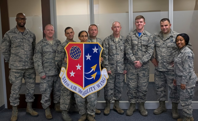 Unit Safety Representatives and Reserve Citizen Airmen from the 514th Air Mobility Wing received Occupational Safety and Health Administration training, August 6, 2018.