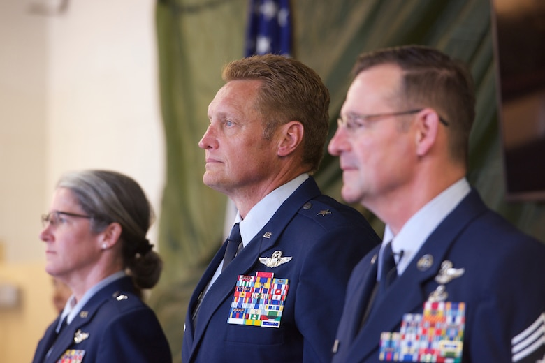 Senior Air National Guardsmen retire.